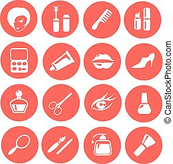 Make up icon set - Make up  and  beauty  icon set vector