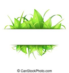 Green Grass and Leaves Banner