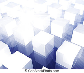 Cubes grid background - Cubes grid illustration organized...