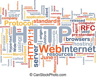HTTP word cloud - Word cloud concept illustration of web...