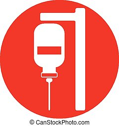 Blood transfusion vector icon isolated