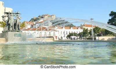 Leiria city, Portugal - Leiria on a sunny day. Leiria is a...
