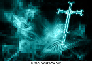 Cross of light