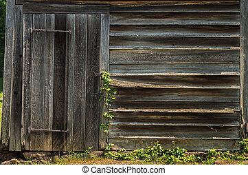 Old Shed - Textured weathered wood on this old shed in...