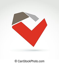 Vector abstract 3D icon, abstract s