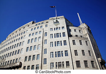 BBC Broadcasting House built in an art deco style in1932, in...