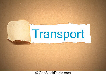 brown paper torn to reveal transport - brown envelope paper...