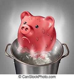 Financial Heat - Financial heat business concept as a...