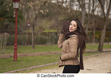 woman outdoors in autumn