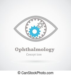 Ophthalmology abstract vector concept symbol icon or Logo...