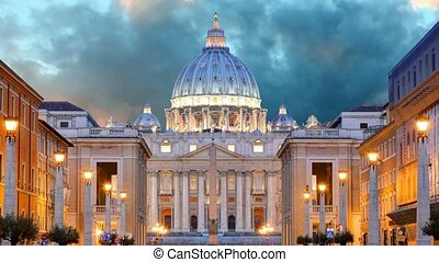 Vatican, Rome, St Peters Basilica, Time lapse motion