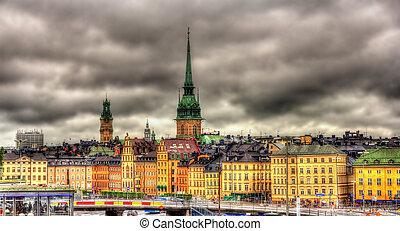 View of Stockholm city center - Sweden