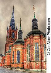 Details of Riddarholmen Church in Stockholm, Sweden