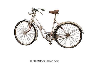 vieux, Vélo, isolé, sur, blanc,