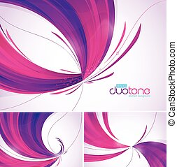 Duotone abstract background series, file format EPS 10