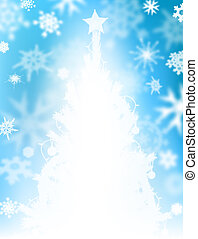 Christmas tree snow - Illustrated background design of snow...