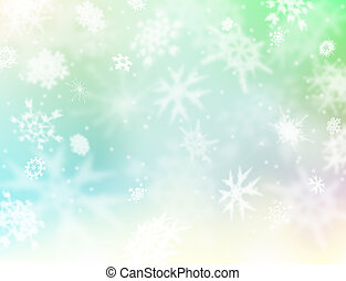 Light snow - Background illustration of a light and soft...