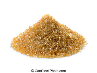 Brown sugar on white background