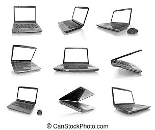 Collection of computer laptop
