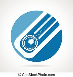 Round flat vector icon for artificial insemination - Circle...