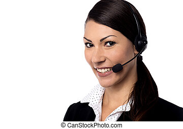 How can I help you sir - Female customer support staff...