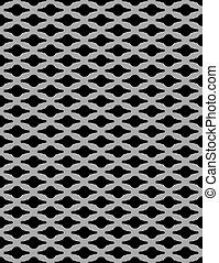 Metal grid seamless pattern