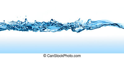 Water Wave. - Abstract water splash with waves and bubbles.