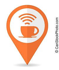 Wi-fi design, vector illustration. - Wi-fi design over white...