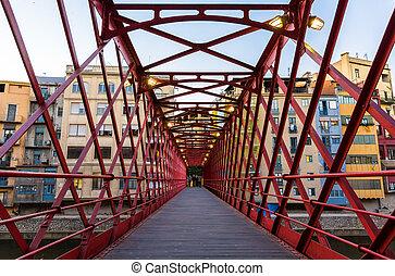 Pont de Ferro, constructed by Eiffel, in Girona - Spain