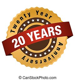 20 Year Anniversary Label - An image of a twenty year...