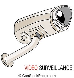 Video Security Camera - An image of a video security camera.