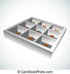 3d Office Cubicles - An image of 3d office cubicles