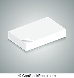 3d Blank Paper Stack