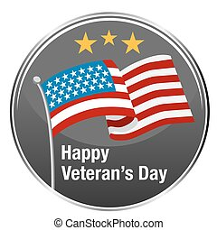 Happy Veterans Day Icon - An image of Happy Veteran's Day...