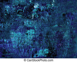 Hues of Blue - Abstract Acrylic in Blue