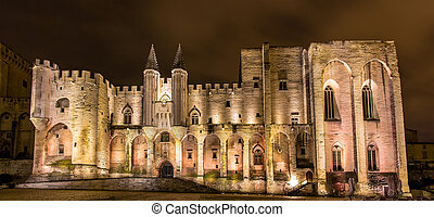 Palais des Papes in Avignon, a UNESCO heritage site, France
