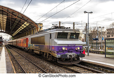AVIGNON, FRANCE - JANUARY 02: Regional train TER 2N NG at...
