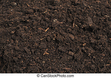 close-up of soil