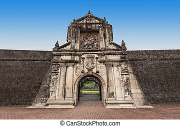 Fort Santiago in Intramuros, Manila city, Philippines