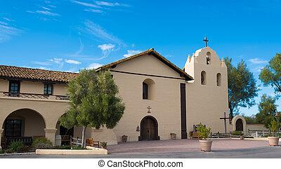 Old Spanish mission in Solvang California - Santa Ynez...