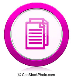 document violet icon pages sign