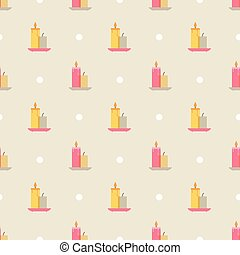 candles pattern - a Seamless pattern with candles vector...