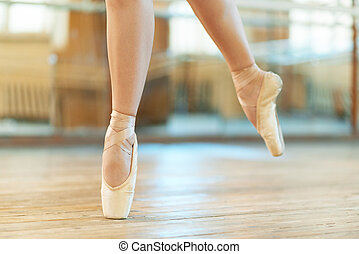 beautiful legs of dancer in pointe - beautiful legs of a...