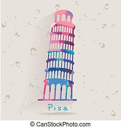 Leaning Tower of Pisa - Leaning Tower of Pisa made of...