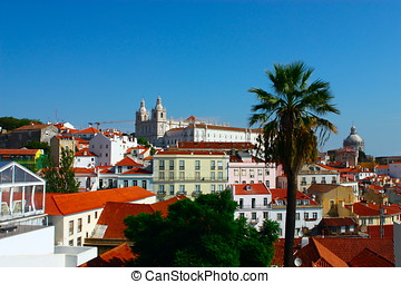 landscape of Lisbon.  Portugal