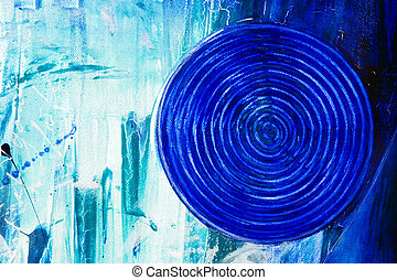 modern abstract acrylic painting , artwork is created and...