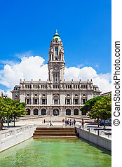 Porto City Hall on Liberdade Square, Porto