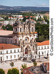 The Alcobaca Monastery - Aerial view of Alcobaca Monastery...
