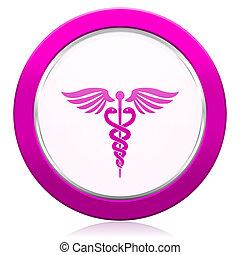 hospitalet, Tegn,  Violet, Nødsituation, ikon