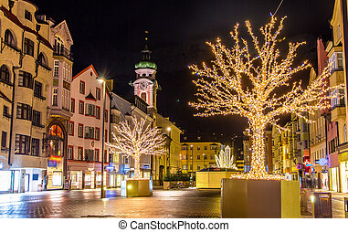 Christmas decorations in Innsbruck - Austria